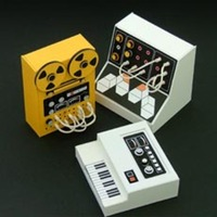 Miniature Cardboard Audio Equipment