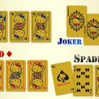 Hello Kitty Solid Gold Playing Cards