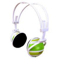 Seeking Green Striped Headphones