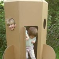 Cardboard Rocket Play House