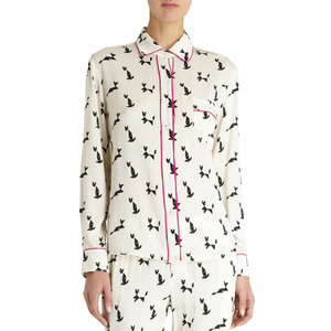 Geometric Cat Isabella Pajama Shirt